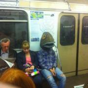 Fishman On The Subway