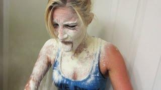Flour In The Face Prank