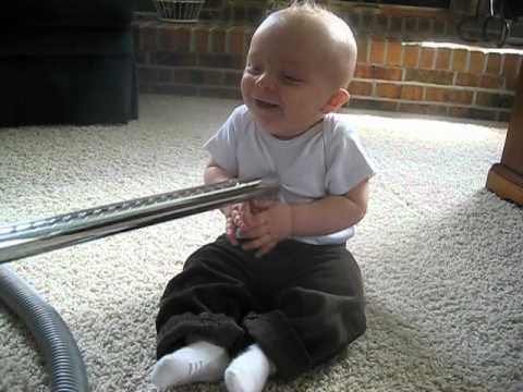 Cute - Baby Boy Loves The Vacuum