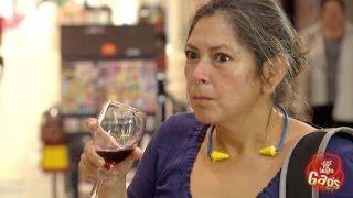 Using Spit To Clean Wine Glass Prank