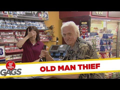 Epic Old Man Steals The Wine Prank