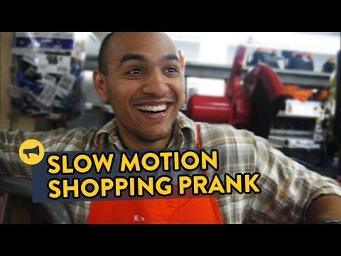 Shopping In Slow Motion Inside The Home Depot Prank