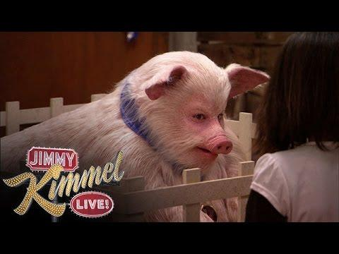 Funny Kids Reaction To Jimmy Kimmel The Talking Pig