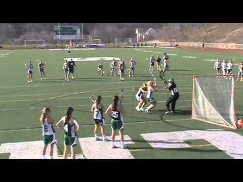 FAIL - Girl Runs Into The Lacrosse Net Post