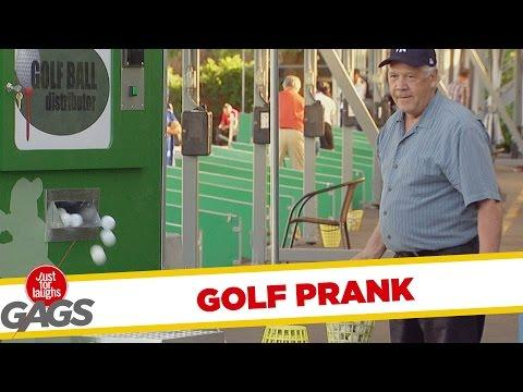 Golf Ball Vending Machine Drives Golfers Nuts Prank