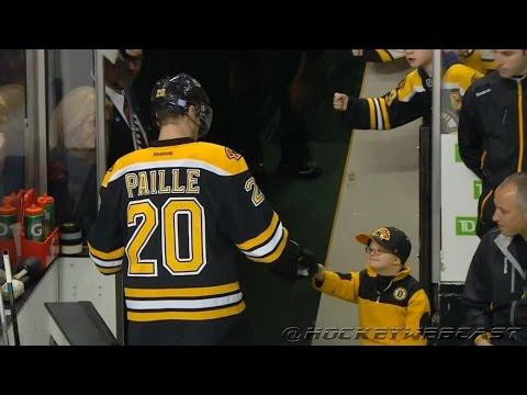 Cute Boston Bruins Fan Fist Bumps The Players