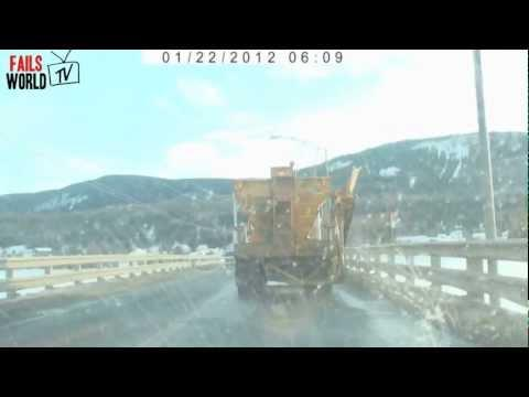 WIN - Snowplow Spits Out Plastic Bag With Money