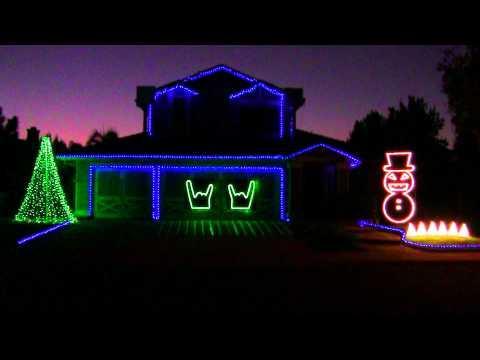 Awesome - Slayer Christmas House Light Show
