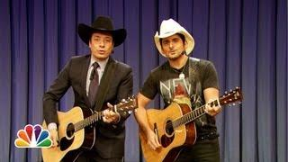 Jimmy Fallon And Brad Paisley's Protest Song Called Balls In Your Mouth