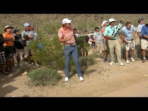 Fan Falls On Cactus After Getting Hit By Golf Ball That Was Hit By Rory McIlroy