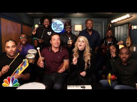 All About That Bass Song Cover By Jimmy Fallon, The Roots, And Meghan Trainor