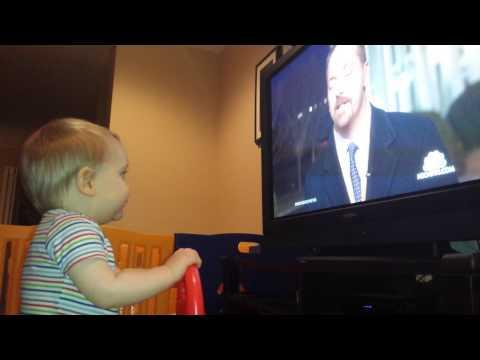 10 Months Old Baby Boy Doesn't Like Brian Williams