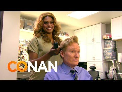 Conan's New Hairstylist Laverne Cox From Orange Is The New Black