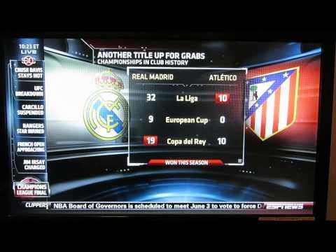 ESPN Reporter Can't Read The Soccer Graphic Table - Fail