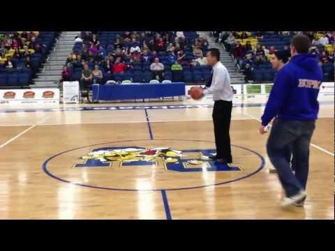 Awesome - Coach Makes Half Court Shot