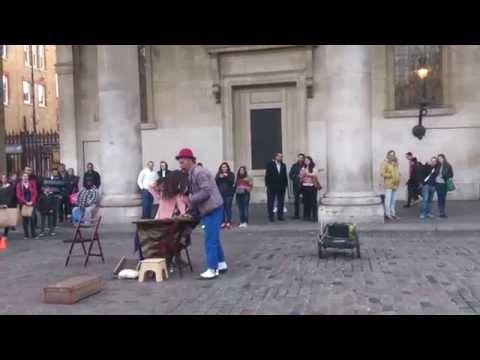Girl Flying Illusion In London Fail
