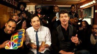 Blurred Lines Song Cover By Jimmy Fallon, Robin Thicke, And The Roots