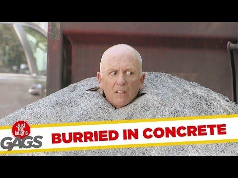 Man Gets Buried In Concrete Prank