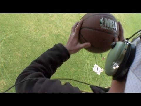 Awesome - Basketball Trick Shot From A Blimp