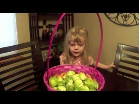 Funny Brussels Sprouts Easter Prank On Little Girl