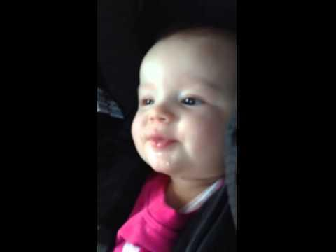 Baby Girl Entertains Herself