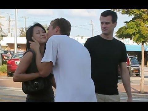 Pranks - Guy Kisses Strangers Prank
