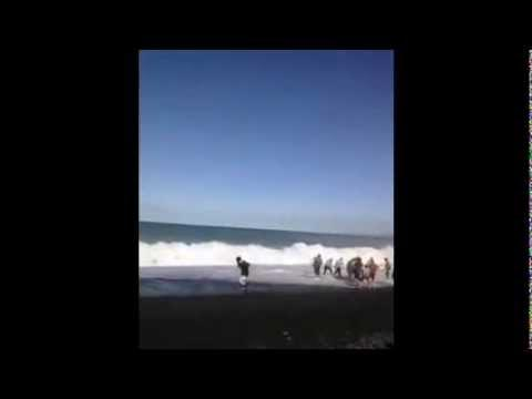 Amazing - People Form Human Chain To Save Drowning Kid