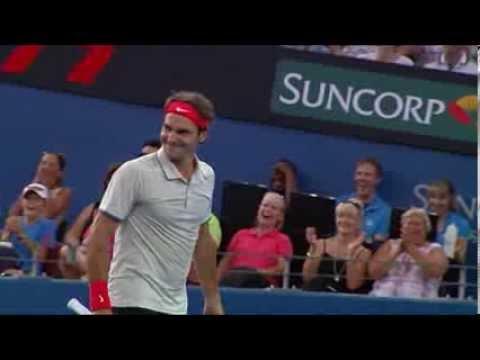Roger Federer's Incredible Tennis Shot At The Brisbane International