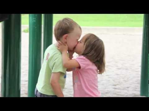 Cute Kid Gets His First Kiss