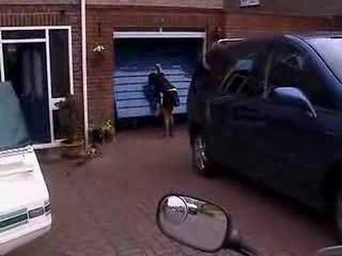 Jokes - Garage Door Opener Invention For Motorcyclists