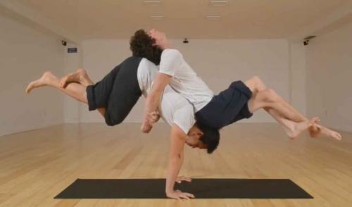 Arthur Cadre Shows Off Yoga Poses
