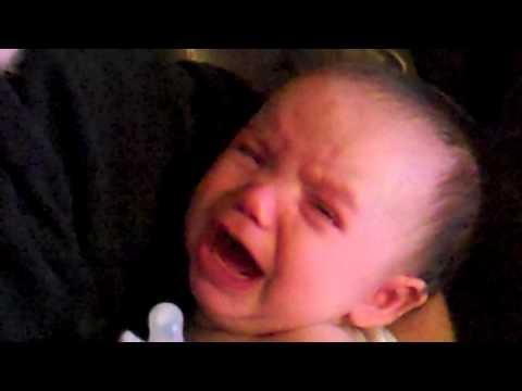 Cute - Baby Starts Crying When Dad Sings