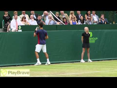 Funny Impression Of Maria Sharapova By Djokovic & Dimitrov