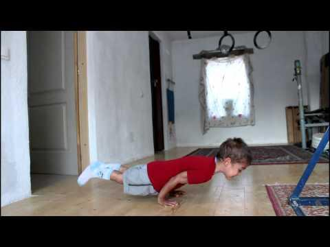 Handstand Pushups By 5 Years Old Kid