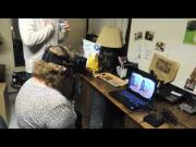 Funny Woman's Oculus Rift Roller Coaster Game Reaction