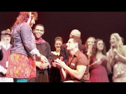 Cute - Theater Actor Proposes To Actress Girlfriend