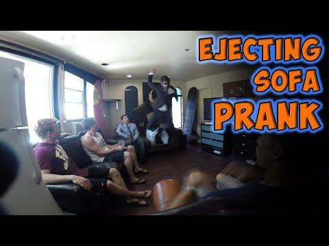Rahat Gets Ejected By Sofa Prank