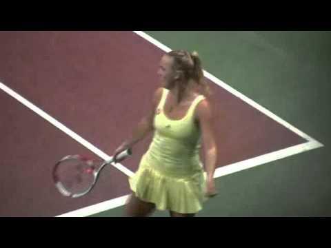 Jokes - Tennis Stars Caroline Wozniacki and Dominika Cibulkova Dance On Court