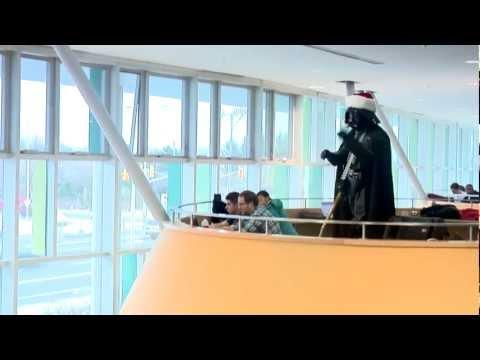 Flash Mob - Darth Vader Conducts Christmas Choir Flash Mob At Algonquin College