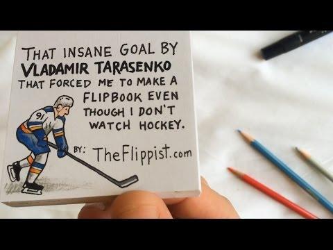 Flipbook Animation Of Vladimir Tarasenko Epic Hockey Goal