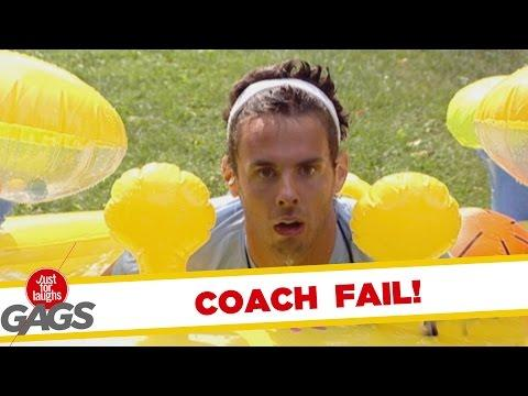 Clumsy Coach For Runners Prank