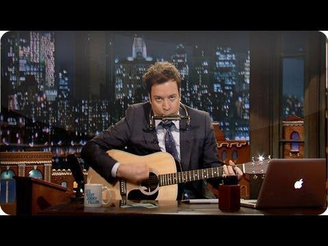 Jimmy Fallon - Jingle Bells, Batman Smells Cover By Bob Dylan