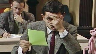 Image result for mr bean taking a peek gif