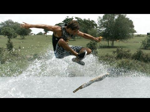 Guys Go Skateboarding On Water