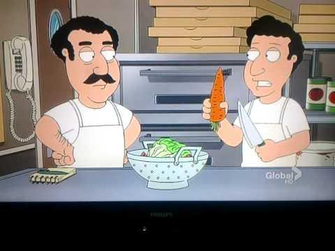 How To Make A Pizza Salad - Family Guy