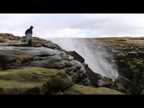 Kinder Downfall Waterfall Gets Reversed By High Winds