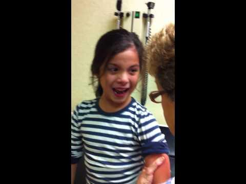Funny Little Girl Vs Flu Shot