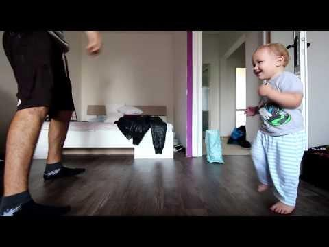 Baby Boy Shows Off His Break Dancing Skills