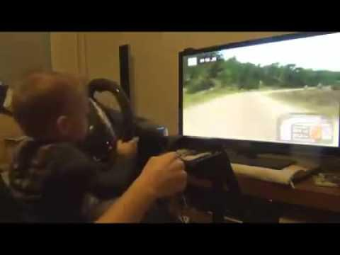 Baby Boy Is Better At Rally Racing Game Than You