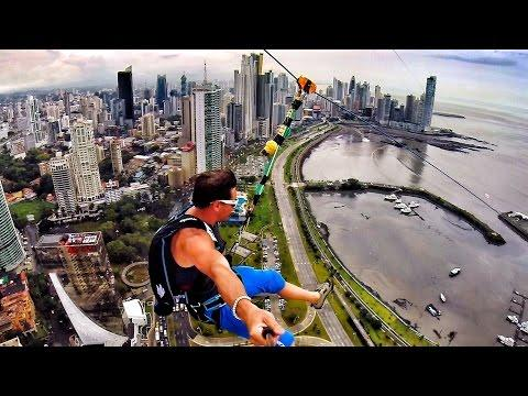 Epic Zipline And Parachute Jump From The Building At Panama City